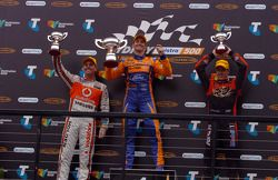 Podium: race winner Will Davison, second place Craig Lowndes, third place James Courtney