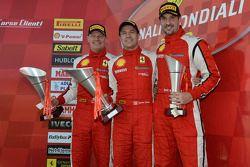 North America race 2 podium: race winner Damon Ockey, second place Ryan Ockey, third place Marc Muzzo