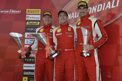 North America race 2 podium: race winner Damon Ockey, second place Ryan Ockey, third place Marc Muzzo