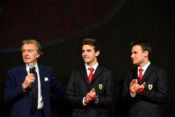 Luca di Montezemolo, con Jules Bianchi, Davide Rigon en la Gala Ferrari