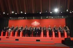 Ferrari drivers and dignitaries at the Ferrari Gala
