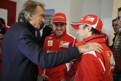 Felipe Massa, Fernando Alonso et Luca di Montezemolo