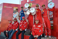 Finali Coppa Shell podium: winnaar Alexey Basov, 2de Raffaele Giannoni, 3de Renato di Amato