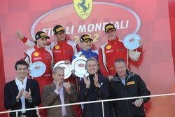 Finali Trofeo Pirelli podium: race winner Alessandro Balzan, second place, Lorenzo Case, third place