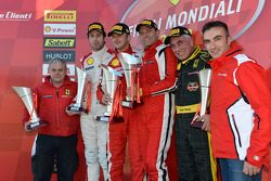 Coppa Shell, Europe race 2 podium: race winner Francisco Guedes, second place Raffaele Giannoni, third place Renato di Amato