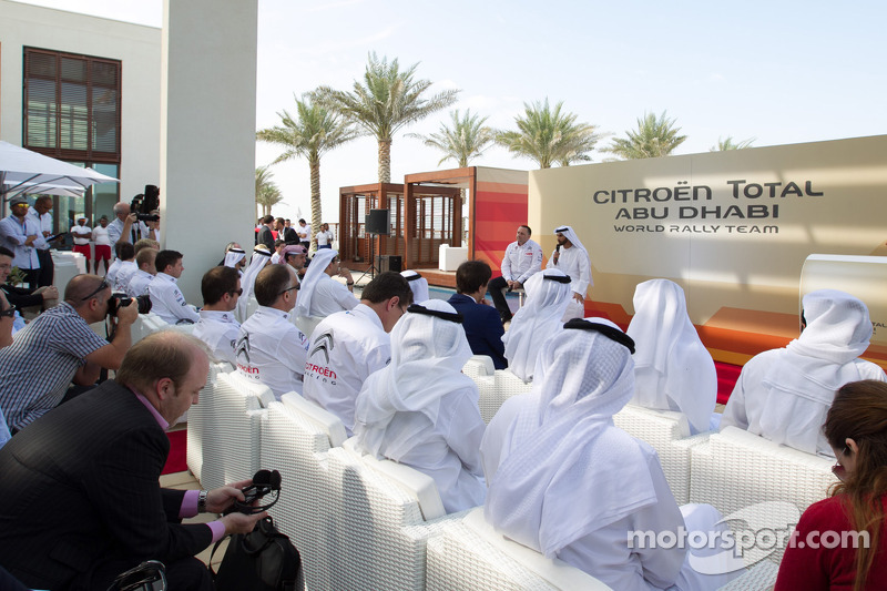 Citroën Total Abu Dhabi World Rally Team launch with Yves Matton