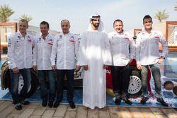 Citroën Total Abu Dhabi World Rally Team launch with Yves Matton, Mikko Hirvonen, Daniel Sordo and Sébastien Loeb