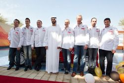 Себастьен Лёб, Микко Хирвонен, Ярмо Лехтинен, Даниэль Сордо и Карлос дель Баррио. Презентация Citroën Total Abu Dhabi World Rally Team, презентация.