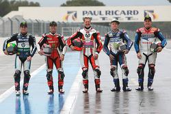 Pol Espargaro, Randy Mamola, Michael Schumacher, Keith Flint and John McGuinness