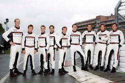 Porsche's official drivers, Jörg Bergmeister, Patrick Long, Timo Bernhard, Richard Lietz, Patrick Pi