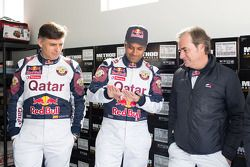 Lucas Cruz, Nasser Al-Attiyah y Carlos Sainz