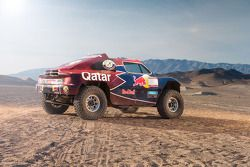 The Qatar Red Bull Rally Team buggy