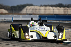 An Oreca FLM-09 LMPC chassis during testing