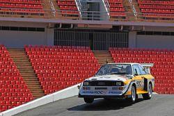 Stig Blomqvist drives an Audi Quattro