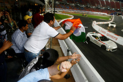 Fans watch the ROC Asia