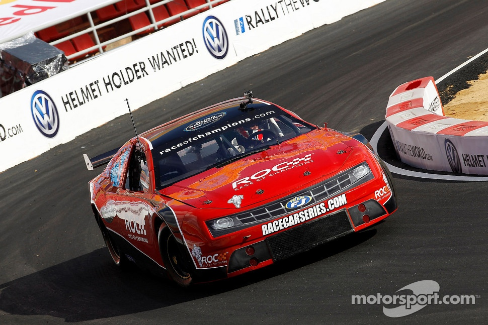 Euro Racecar, but not European... It's a NASCAR style car with a big old 5.7-litre V8, 450bhp and four speed manual.