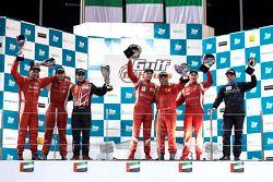 Podium: race winners Gaetano Ardagna, Gianmaria Bruni, Toni Vilander, second place Enzo Potolicchio, Ryan Dalziel, Pierre Kaffer