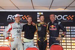 Michael Schumacher, Sebastian Vettel, Romain Grosjean y David Coulthard