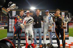 Ganadores de la Copa de Naciones ROC 2012 Sebastian Vettel y Michael Schum con el segundo lugar Sébastien Ogier y Romain Grosjean