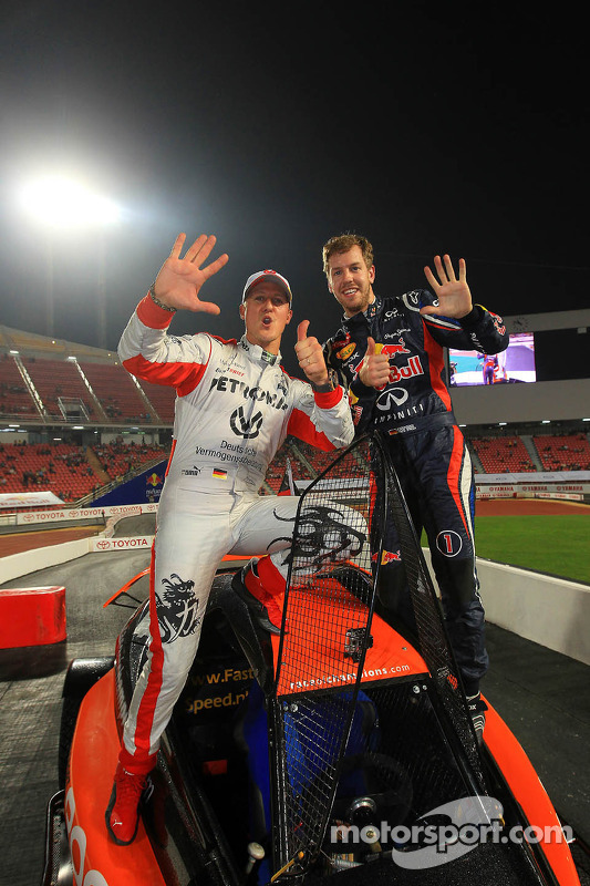 Sebastian Vettel ve Michael Schumacher