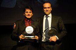 GTE-Pro champion, Giancarlo Fisichella with Amato Ferrari, AF Corse