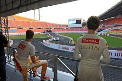 Ryan Hunter-Reay y Romain Grosjean