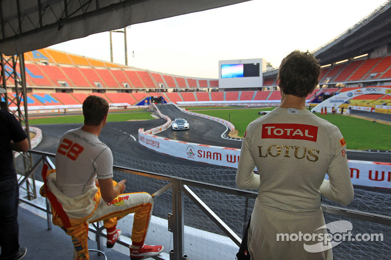 Ryan Hunter-Reay and Romain Grosjean