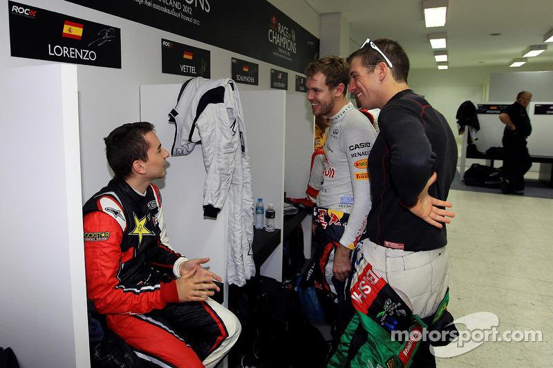 Jorge Lorenzo, Benito Guerra en Sebastian Vettel