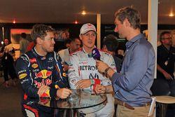 Sebastian Vettel and Michael Schumacher