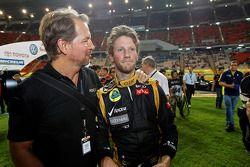 Ganador Romain Grosjean celebra