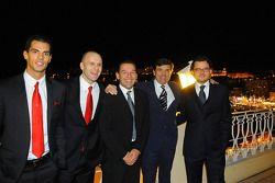 Ferrari group photo including drivers Federico Leo, Gianmaria Bruni, Batti Pregliasco, Jesus Pareja and Cristiano Michelotto