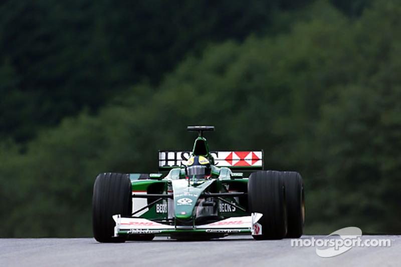 2000 год. Лучано Бурти. 1 гонка в Jaguar