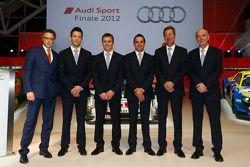Le Mans winners Andre Lotterer, Marcel Fässler, Benoit Tréluyer