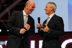 Rinaldo Capello with Dr. Wolfgang Ullrich, head of Audi Sport