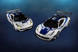 De RAM Racing Ferrari 458 Italia, GT3 en GTE varianten