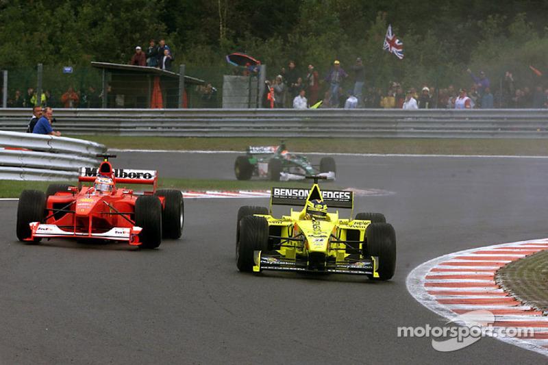 Rubens Barrichello et Heinz-Harald Frentzen lors du GP de Belgique