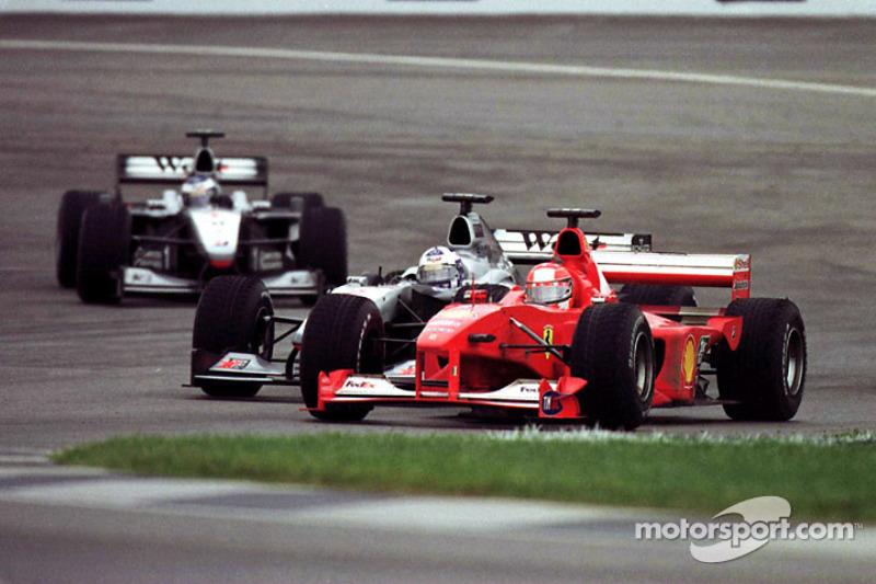 Михаэль Шумахер и Дэвид Култард. ГП США, Воскресная гонка.
