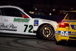 #72 Park Place Motorsports Porsche GT3: Chuck Cole, Grant Phipps, Mike Vess, Alex Whitman spins in f