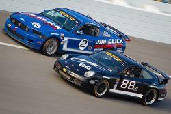 #2 Jim Click Racing Mustang Boss 302R GT: Jim Click, Mike McGovern, #88 Ranger Sports Racing Porsche