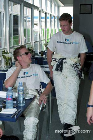Jenson Button et Ralf Schumacher