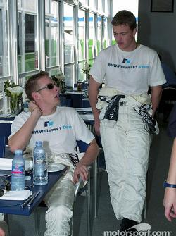 Jenson Button y Ralf Schumacher