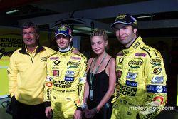 Eddie Jordan, Jarno Trulli et Heinz-Harald Frentzen