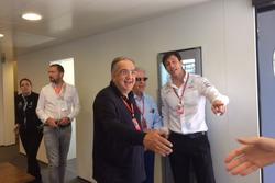Sergio Marchionne, Presidente Ferrari e CEO di Fiat Chrysler Automobiles, Toto Wolff, Toto Wolff, Direttore Esecutivo Mercedes AMG F1, Piero Ferrari, Vice Presidente Ferrari