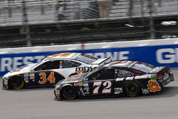 Landon Cassill, Front Row Motorsports Ford, Cole Whitt, TriStar Motorsports Chevrolet