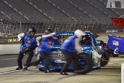 Kyle Busch, Kyle Busch Motorsports Toyota, makes a pit stop