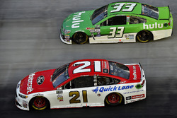 Ryan Blaney, Wood Brothers Racing Ford, Jeffrey Earnhardt, Circle Sport – The Motorsports Group Chevrolet