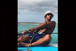 Lewis Hamilton, vacaciones