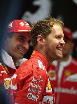 Marc Gene, Ferrari et Sebastian Vettel, Ferrari