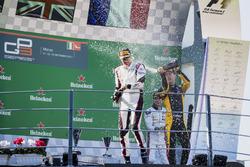 Podium:  second place Jack Aitken, ART Grand Prix, Race winner George Russell, ART Grand Prix, third place Anthoine Hubert, ART Grand Prix