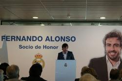 Fernando Alonso'nun Real Madrid'e ziyareti